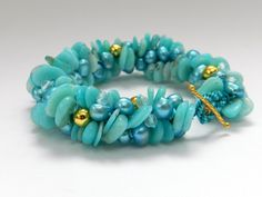 Amazonite kumihimo bracelet tutorial from Prumihimo