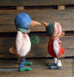 Купить Птичий базар - разноцветный, птица, птичка, птица текстильная, птичка текстильная, птичка из плюша