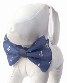 Anchor Dog Bow Tie by chucklehounds on Etsy
