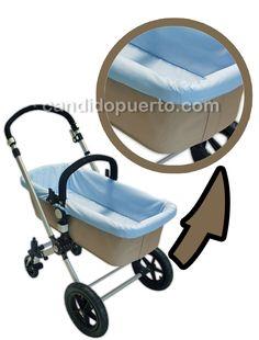 Funda para los laterales y el fondo del capazo de la silla cochecito para Bugaboo Camaleón