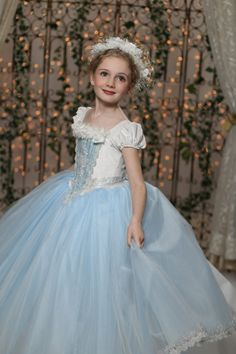Snow Queen Ball Gown Princess Party Dress by EllaDynae on Etsy, $270.00