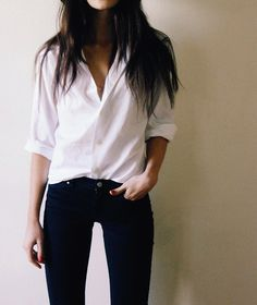 simple white blouse