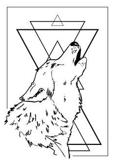 Wild Wolf poster by Agapê.