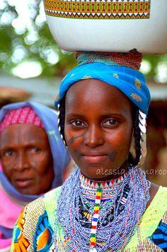 Africa |  Bororo women, photographed in Kandi market, Benin | © Alessia de Marco