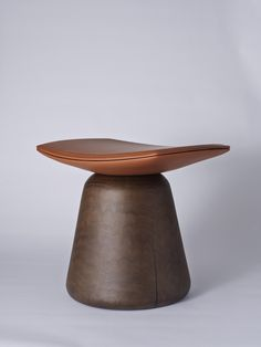 Christophe Delcourt-Roi Stool Launching for NYC x Design in May 2015 The bases are made of French walnut and the seat is leather.