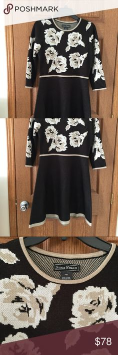 Sweater dress Gorgeous black tan and cream sweater dress - tag cut off but I have it. Purchased at Macy's Jessica Howard Dresses Midi