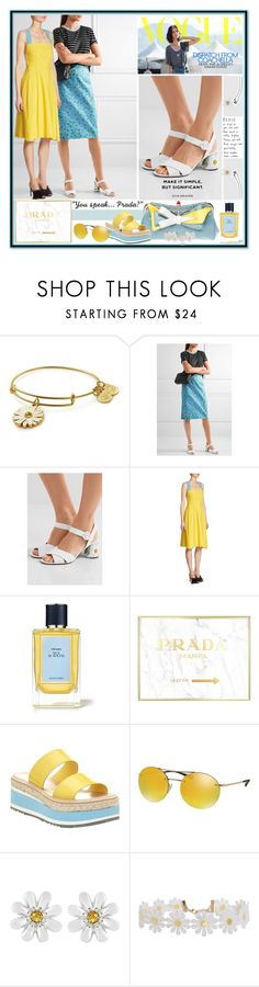 """Prada Dress"" by yours-styling-best-friend ❤ liked on Polyvore featuring Alex and Ani, Prada, Marc and Humble Chic"