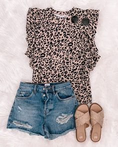 Cute Summer Outfits, Cute Casual Outfits, Short Outfits, Spring Outfits, Outfit Summer, Bon Look, Fashion Outfits, Womens Fashion, Fashion Trends
