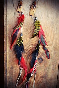 Extra Long Tribal Feather Earrings, 17 inches,  Beaded Suede Leather Aztec Feather Earrings-Feather Symbolism