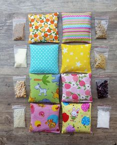 Items similar to Sensory Bean Bags A Montessori Inspired Sensory bags Sensory toys Baby toy Sensory play Montessori bags Baby gift Travel toy Busy bags on Etsy Baby Sensory Play, Baby Play, Baby Sensory Bags, Diy Montessori Toys, Montessori Bedroom, Montessori Toddler, Diy Bean Bag, Travel Toys, Travel Gifts