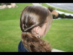 Teen-Flipped Side ponytail video tutorial