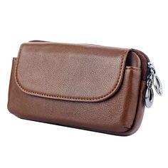 Genuine Leather Zipper Wallet Bag Case For LG Stylus 2/Stylo 2/ Stylus2 Plus/X5/V20/G5 SE Universal Belt Clip Phone Pouch Cover