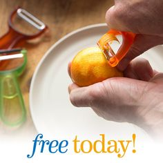 Tuesday, May 24, 2016 - FREE Y-Peeler Set! The THREE peelers that you will WIN give you triple-duty peeling, with specialty blades for each task. Straight Blade for hard skin fruits and vegetables, Serrated Blade for soft skin produce like tomatoes, and Julienne Blade for salads and veggie noodles.
