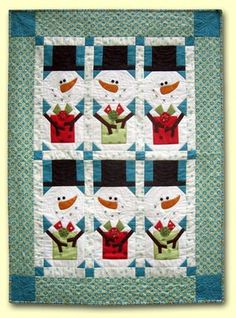 Snowman gift wrap...so cute!  http://www.redgeraniumcottage.typepad.com/daisycottagequilting/#