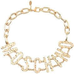 Moschino Couture Necklace ($140) ❤ liked on Polyvore featuring jewelry, necklaces, gold, moschino and moschino necklace
