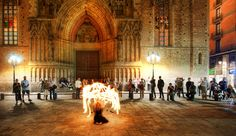 Watching a live fire performance in Barcelona Spain. by treyratcliff