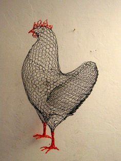 wire chicken