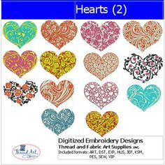 Machine Embroidery Designs - Hearts(2)