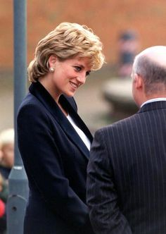 1995--Princess Diana, patron of the Charity Turning Point, opens the Richard Dadd Centre at Broadmoor Hospital in Crowthorne, Berkshire, November 14, 1995.: