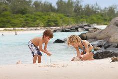 Children Building Sandcastles at the Hilton, #Barbados. #Caribbean