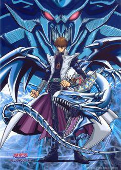 seto kaiba, blue-eyes white dragon and obelisk the tormentor.