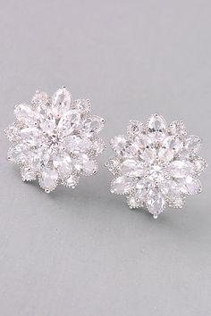 Blossom Jeweled Earring Studs. - Earrings