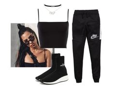 """""""Untitled #1735"""" by elinaxblack ❤ liked on Polyvore featuring NIKE, Joshua's and Christian Dior"""