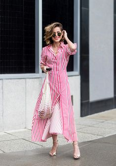 Vintage Summer Outfit Ideas To Looks Classic 91 Vintage Summer Outfits, Chic Summer Outfits, Summer Outfits Women, Summer Dresses, Casual Outfits, Glamour Mexico, Dress Vestidos, Camisa Formal, Striped Shirt Dress