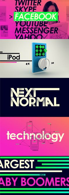 Bright Color / Hip / Type /// Viacom Next Normal - Carla Dasso
