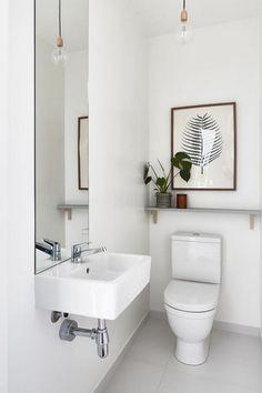 Superb Bathroom Shower Remodel Apartment Therapy Ideas 8 Optimistic Simple Ideas: Half Bathroom Remodel Pallet Walls bathroom remodel cost how to paint.Cheap Bathroom Remodel C Downstairs Bathroom, Bathroom Wall Decor, Bathroom Interior, Bathroom Ideas, Bathroom Plants, Budget Bathroom, Master Bathroom, Cloakroom Ideas, Bathroom Inspo
