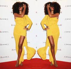 Never seen this image of Solange Knowles before in her color yellow. Love it.