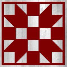 "Metal Barn Quilt Block - Sister's Choice - 12"" x 12"" - 16 Gauge Metal Sign"