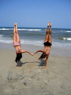 Why can't I do this? Oh yeah, I'm awkward, unbalanced, and DON'T LIVE AT THE BEACH. wahh.