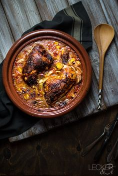 Ofen Hähnchen in Mango-Tomaten-Sauce Oven Roasted Chicken, Oven Chicken, Roasted Peppers, Crockpot, Food Blogs, Different Recipes, Winter Food, Food And Drink, Yummy Food