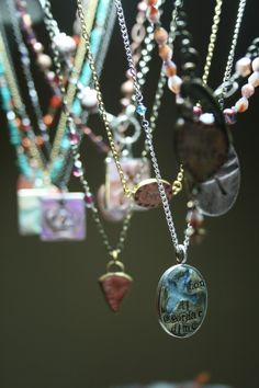 Simple Truths handmade pendants. Love this picture!