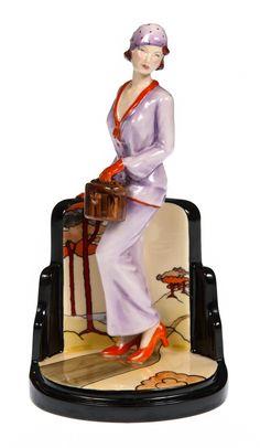 """Art Deco Figurine """"La Chic"""" - General Colourway"""