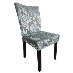 Classic Parson Purple/ Green Damask Dining Chairs (Set of 2) | Overstock.com