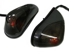 Best price Carbon/smoke Flush Mount Turn Signals for 1988-2013 Kawasaki Ninja Ex250 Ex 250r Sale