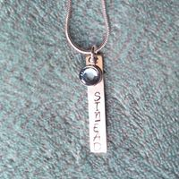 Hand Stamped, Unique Gifts, Personalized Items, Chain, Silver, Money, Chains, Original Gifts