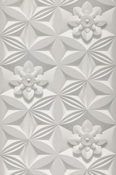 Graham & Brown Marcel Wanders Grey Paper Floral Wallpaper - Looks but it's 3d Wallpaper Roll, Paintable Wallpaper, Classic Wallpaper, Embossed Wallpaper, Grey Wallpaper, Wallpaper Decor, Wallpaper Samples, Flower Wallpaper, Designer Wallpaper