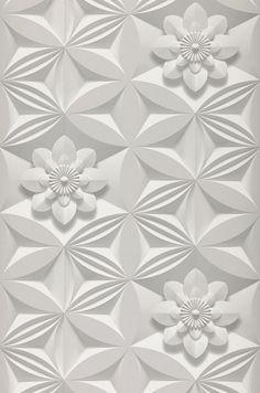 3D-Flowers | Papier peint floral | Motifs du papier peint | Papier peint des années 70