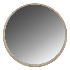 Clean and simple. Available in 3 shapes and sizes, the Solene wall mirror's substantial natural frame brings dimension and texture to any room. Solene Round Mirror Size W x D x H