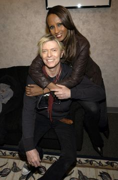 David Bowie and Iman                                                                                                                                                      More