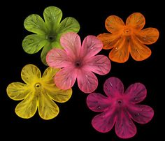 Bulk Beads Flower Beads Assorted Colors Wholesale Beads Lucite Acrylic 33mm 50 pieces by truewholesale on Etsy https://www.etsy.com/listing/207642959/bulk-beads-flower-beads-assorted-colors