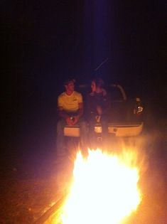 I would rather sit on the tailgate of a pick-up & watch a bonfire than go to the mall any day. <3