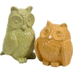 2 Piece Spencer Owl Statue Set