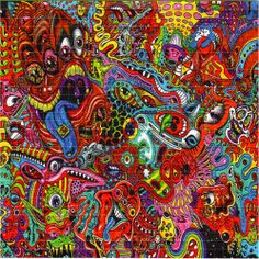 WOWZA - BLOTTER ART - psychedelic perforated LSD acid art hofmann