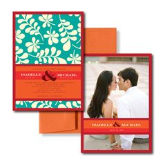 Repin and comment!    #Teal Wedding Invitations, Orange Wedding Invitations, Summer Wedding Invitations  #wedding_invitations #wedding #invitations  #letterpress