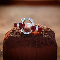Our Bridle Bit Bracelet comes in all sizes, all colors and silver or gold. http://www.caracolsilver.com/bridle-bit-leather-bracelet-caracol-jewelry/. #caracol #Caracolsilver #equestrian #fashion #horses #jewelry #bracelets #leather