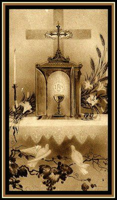 """When you awake in the night, transport yourself quickly in spirit before the Tabernacle, saying: 'Behold, my God, I come to adore You, to praise, thank, and love you, and to keep you company with all the Angels,' """" - St. John Vianney"""